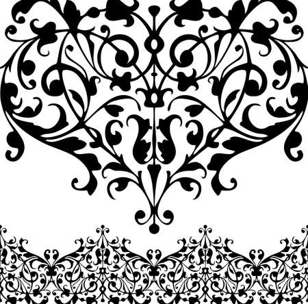 vector elements: Vector swirling decorative floral and plants elements