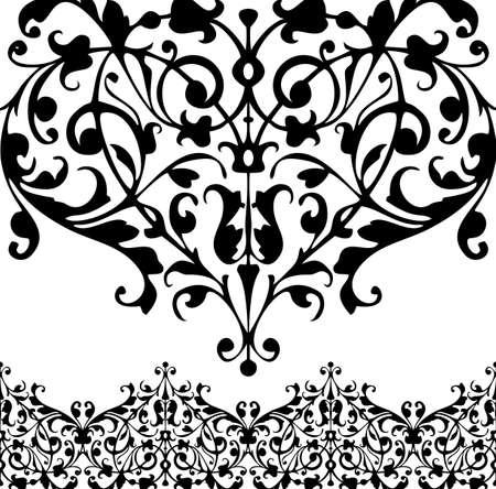 Vector wervelende decoratieve bloemen en planten elementen Stockfoto - 13168056