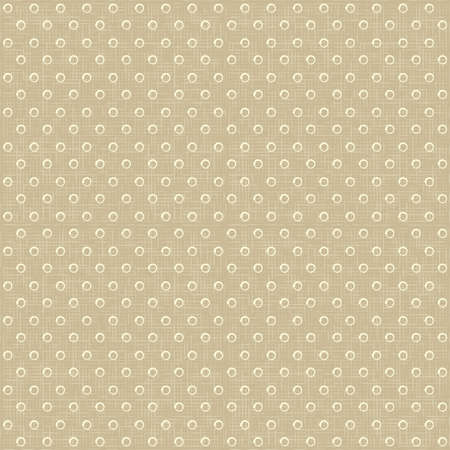 Vector Seamless rustic vintage polka dots pattern with linen canvas background Stock Illustratie