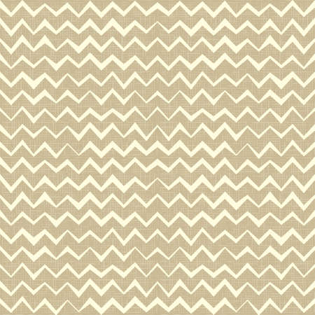 Hand drawn Seamless zigzag pattern on linen canvas background  Vintage rustic burlap chevron Vector