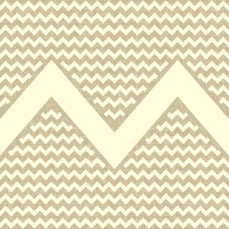 Naadloos zigzagpatroon op linnen doek achtergrond Vintage rustieke jute chevron Stock Illustratie