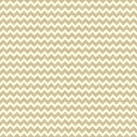 Seamless chevron pattern on linen canvas background  Vintage rustic burlap zigzag Vector