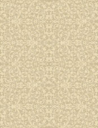 linen fabric: Vintage Seamless floral linen pattern