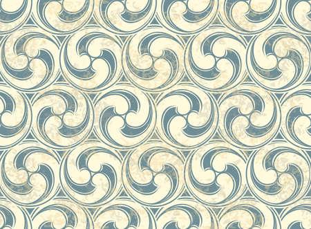 Vintage Naadloos patroon met golven Stockfoto - 13452473