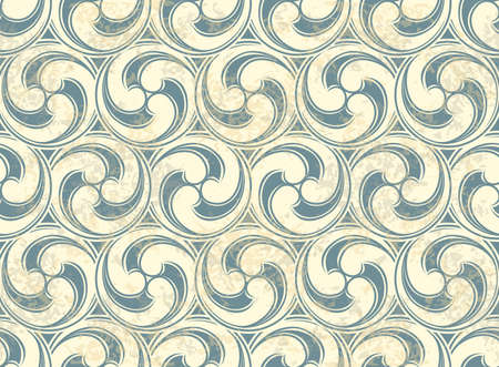Vintage Seamless pattern with waves Illustration