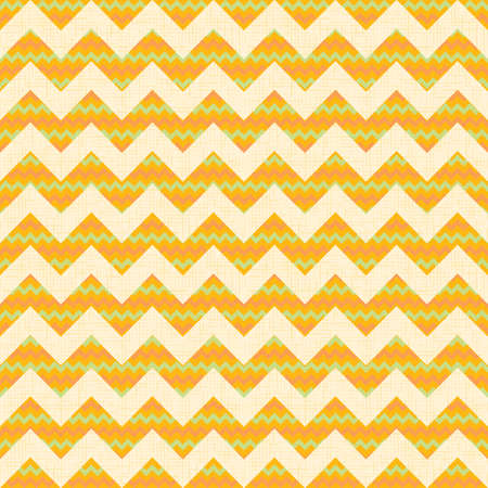 Vector Seamless chevron pattern on yellow linen canvas background  Vintage zigzag Vector