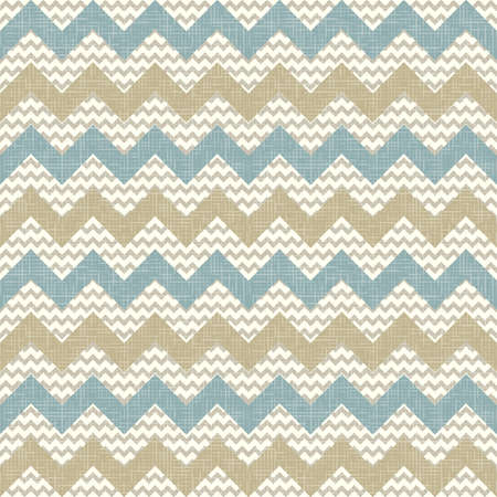 Seamless chevron pattern on linen texture  Zigzag background Ilustração