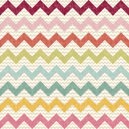 Seamless color chevron pattern on linen texture  Zigzag background Vector
