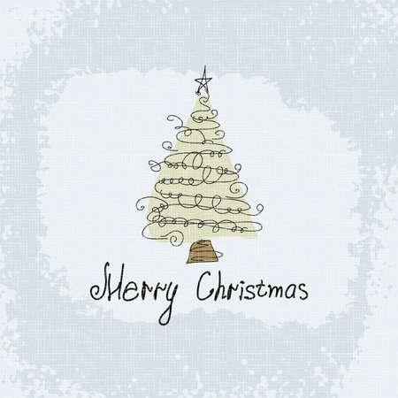 Doodle kaart - abstracte kerstboom Vector vrolijk kerstfeest Stockfoto - 16061720