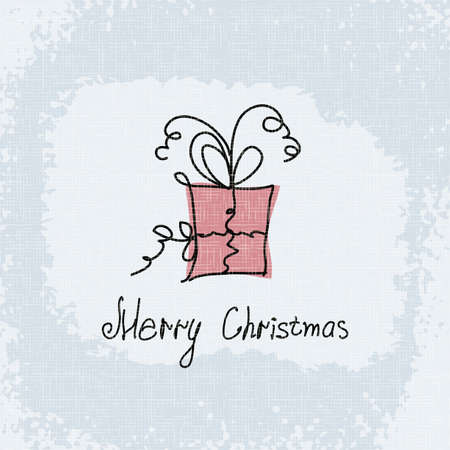 Doodle card merry christmas Vector