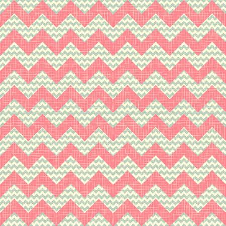 Fashion zigzag pattern in retro colors  Ilustrace