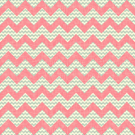 Fashion zigzag pattern in retro colors  Vector