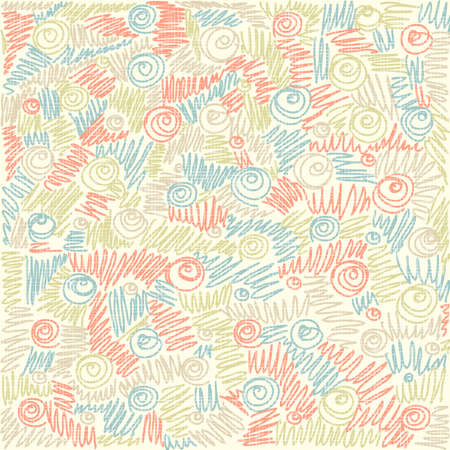 Colorful  abstract doodle background  Texture vintage baby seamless pattern   Vector