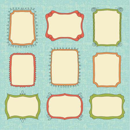 Handgetekende doodle frames