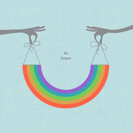 warm colorful rainbow illustration Vector