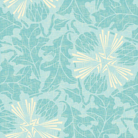 Cute turquoise floral seamless pattern. Can be used for wallpapers, fills, web page background, surface textures Vector