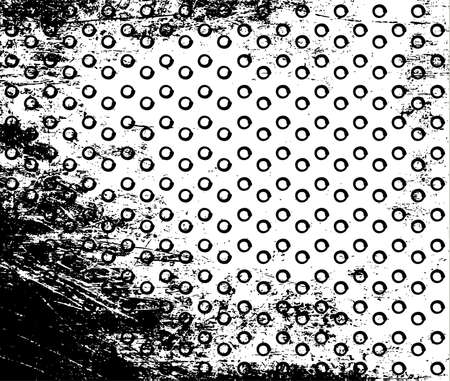 Vector grunge polka dot background. black and white Vektoros illusztráció