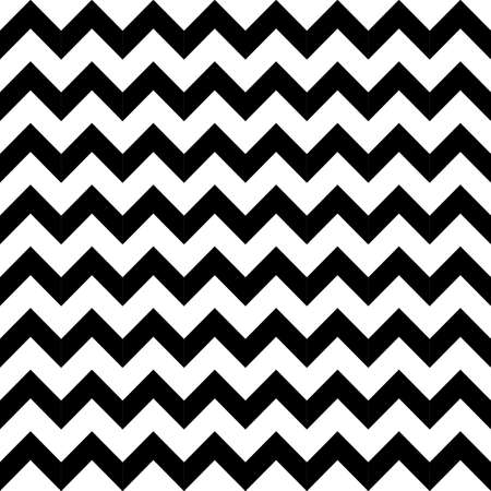 Abstract geometric zigzag seamless pattern in black and white, vector Vector