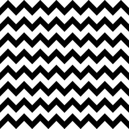 Abstracte geometrische zigzag naadloos patroon in zwart en wit, vector Stockfoto - 27156872