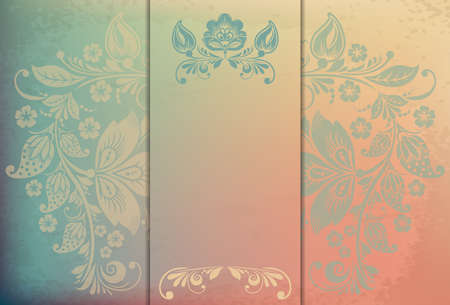Elegant background with floral ornament and place for text. Floral elements, ornate background. Vector illustration. EPS 10 Vector