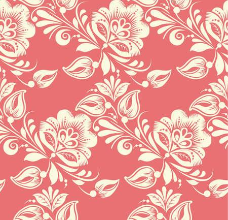 Vector Patrón Floral Sin Fisuras. Fondo Puede Utilizarse Para ...