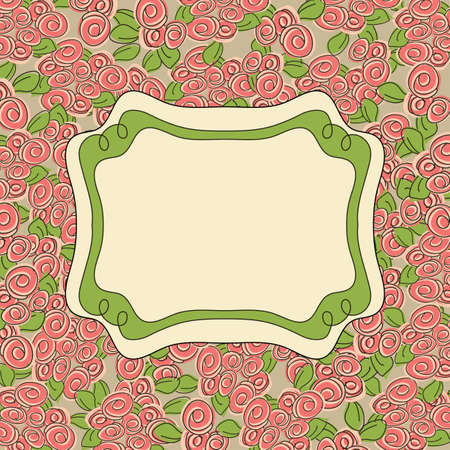 Vintage floral  background. Vector