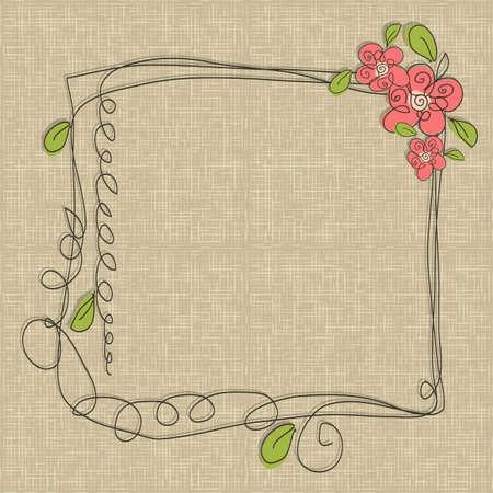 glamorous: Glamorous doodle frames Illustration