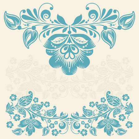 Vector floral element with abstract vintage flower Vector