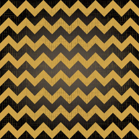 Abstract geometric zigzag seamless pattern in black and yellow  Vector