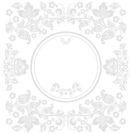 Vector background of floral pattern with traditional russian flower ornament. Khokhloma. Vector