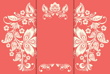 Elegant background with floral ornament and place for text. Floral elements, ornate background. Vector Vector
