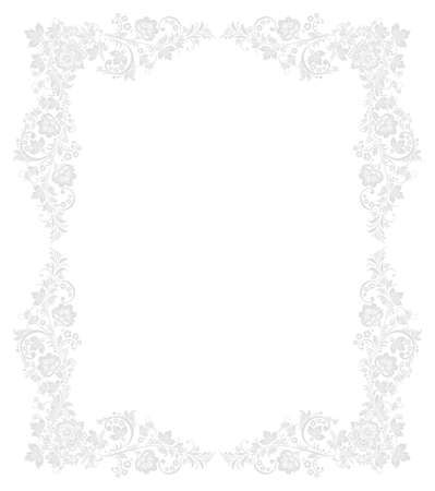 Ornate floral frame in traditional Russian Vector