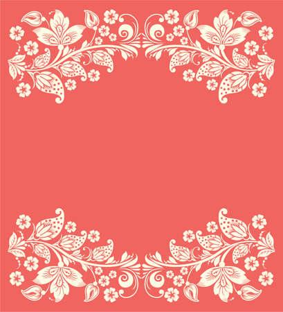 Ornate elegant floral frame. Flower background Illustration