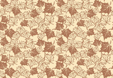 fall leaves: Seamless pattern with autumn maple leaves. Vector fall background.