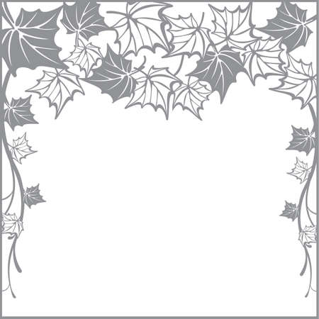 plotter: Autumn pattern, with maple leaves. Fall Vector design background for cutting with a laser or plotter. Template for cut