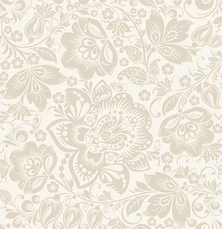 벡터 꽃 빈티지 소박한 원활한 패턴입니다. 배경 벽지, 채우기, 웹 페이지, 표면 텍스처에 사용할 수 있습니다. 일러스트