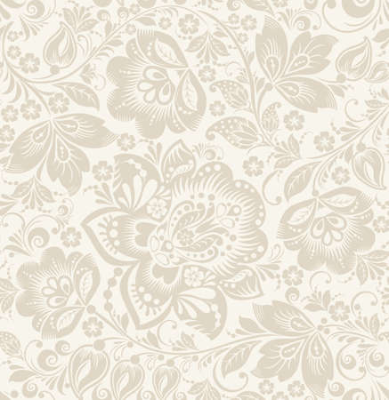 scroll: Vector Floral vintage rustic seamless pattern. Background can be used for wallpaper, fills, web page, surface textures.