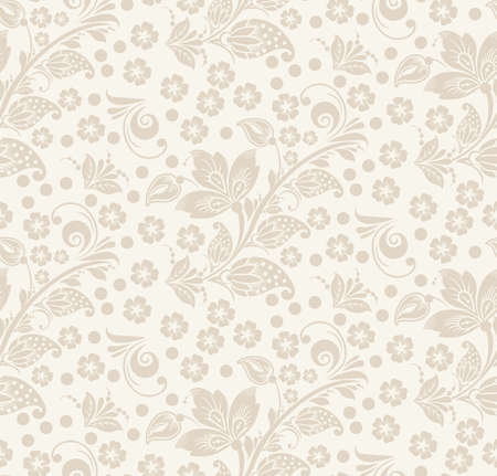 Romantic seamless floral pattern. Seamless pattern can be used for wallpaper, pattern fills, web page backgrounds, surface textures. vector background. Eps 8