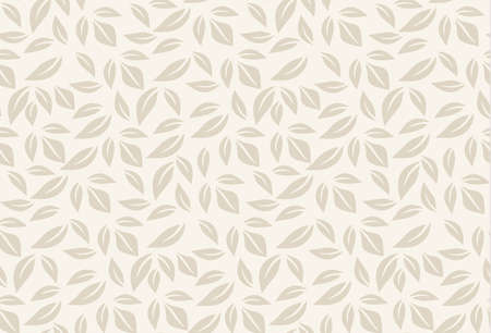 ecology background: vector beige leaf seamless pattern. leaves background can be used for wallpaper, fills, web page, surface textures.