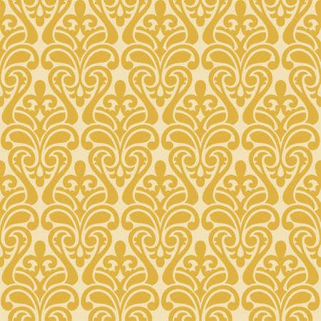 Vector geel Ikat Damask Naadloos Patroon Als achtergrond. Stockfoto - 45665136