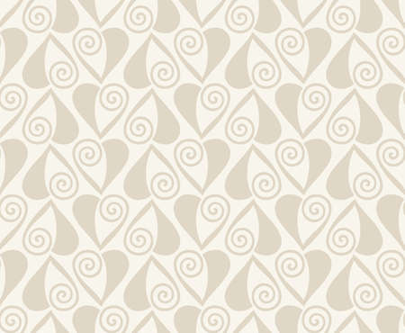 beige background: Vector Retro seamless pattern. Abstract hearts on beige background