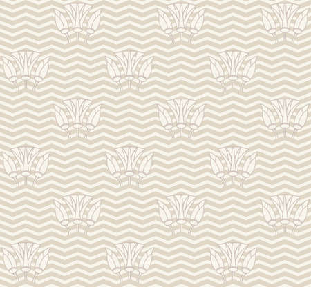 chevron pattern: Vector Seamless Chevron Pattern. zig zag waves with lilies background