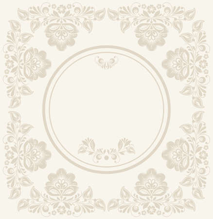 Invitation anniversary card with label for your personalized text 45665319 invitation anniversary card with label for your personalized text in shades of subtle off whites and beige with a delicate floral pattern and stopboris Choice Image