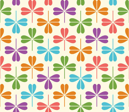 patrick background: Vector Seamless Pattern with colorful stylized clover leaves. st patrick background
