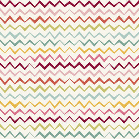 Vector Seamless Chevron Pattern. colorful Vintage zigzag background