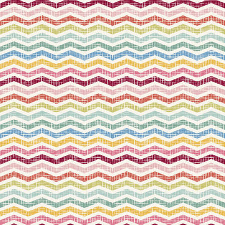 parallelogram: Vector Abstract retro geometric seamless pattern. Chevron colorful