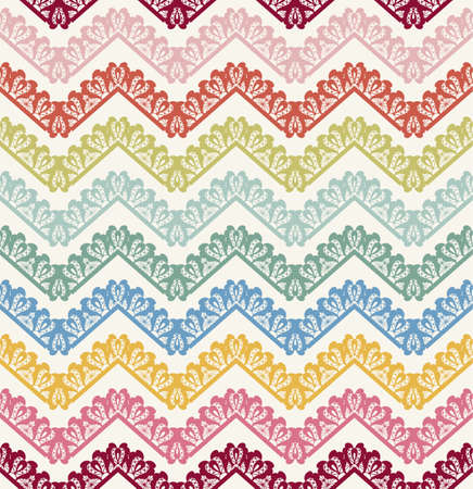 chevron pattern: Vector Seamless lace Chevron Pattern. Vintage zigzag background Illustration