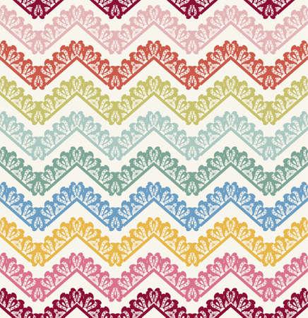 chevron pattern: Vector Seamless lace Chevron Pattern. Vintage zigzag background Illustration