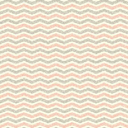 çuval bezi: vector Seamless colorful chevron pattern on texture grunge background. Vintage rustic burlap zigzag Çizim