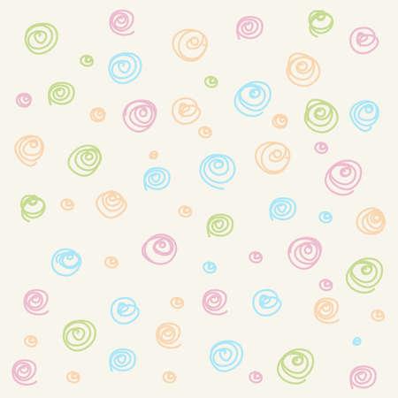 Vector Kleurrijke Naadloze patroon. Casual polka dot textuur. stijlvolle doodle Stock Illustratie